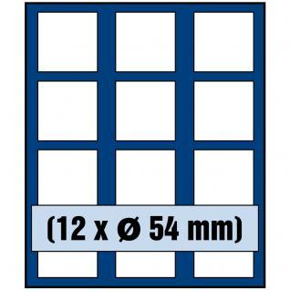 SAFE 6354 Nova Münzboxen - Schubladenelemente 12 eckige Fächer 54 mm für Lunar Serie II in Münzkapseln