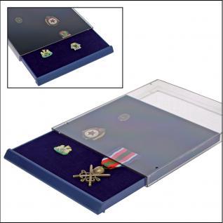 SAFE 6360 Nova Sammelboxen - Schubladenelemente ohne Facheinteilung für Pins Buttons Militaria Orden Schmuck Broschen Anstecknadeln