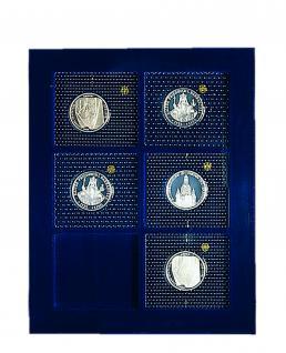 SAFE 6370 Nova Münzboxen - Schubladenelemente 6 eckige Fächer 70 x 62 mm für 5 - 10 DM PP Münzen Gedenkmünzen in Blister Folie