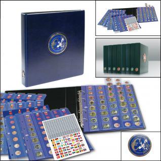 SAFE 7340 PREMIUM EUROMÜNZALBUM Münzalbum 30 x komplette EURO Kursmünzensätze KMS von Andorra - Zypern 1 Cent - 2 Euro