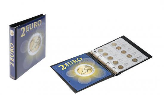 LINDNER 1118M2 2 Euro Münzalbum Vordruckalbum + 9 Karat Blätter K3 + Vordrucke ab Belgien 2012 bis 2016 Finnland
