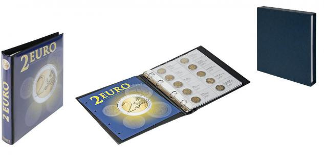 1 x LINDNER 1118-16 Vordruckblatt + K3 Karat Blatt - 2 EURO Gedenkmünzen chronologisch Januar 2015 - Juli 2015 - Vorschau 4
