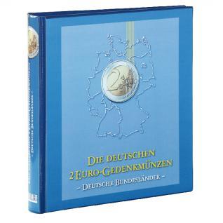 LINDNER SET 1505 + 810D-B 2 Euro Münzalbum Gedenkmünzen Deutsche Bundesländer Vordruckalbum Bd 1 - 2006 - 2017 - 2021 + Kassette - Vorschau 2