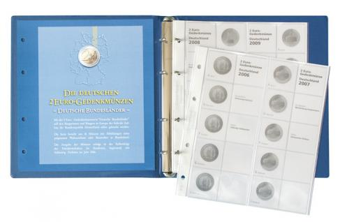 LINDNER 1505 2 Euro Münzalbum Gedenkmünzen Deutsche Bundesländer Vordruckalbum 2006-2022