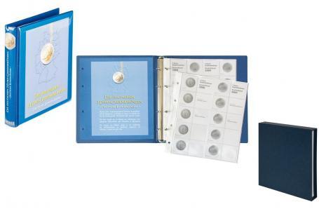 LINDNER SET 1505 + 810D-B 2 Euro Münzalbum Gedenkmünzen Deutsche Bundesländer Vordruckalbum 2006 - 2022 + Kassette