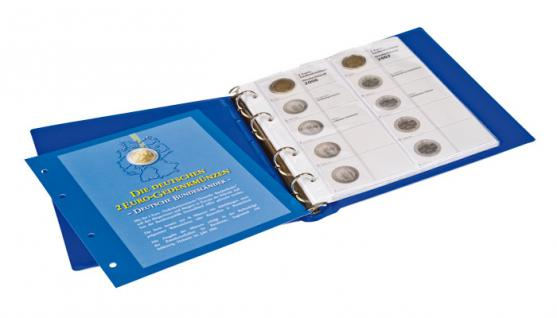 1 LINDNER 1505-2 Vordruckblatt + K3 Karat Blatt - 2 EURO Deutsche Bundesländer Hamburg / Saarland 2008 - 2009 - Vorschau 2