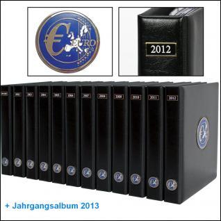 SAFE SET 7430 - 7434 - 5x komplette PREMIUM EURO JAHRGANGS MÜNZALBEN Kursmünzensätze KMS farbige Vordrucke Münzhüllen 2011 - 2015