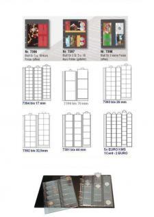 10 x SAFE 7392 Premium Ergänzungsblätter Münzhüllen Münzblätter 24 Fächer x 34 mm + schwarze ZWL Ideal für 5 - 10 Euro DM - 20 Mark - Vorschau 2