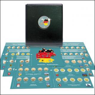SAFE 7345 PREMIUM 2 EURO MÜNZALBUM Deutsche Bundesländer + 7x farbige Vordruckblätter + 7x 7392 Münzblätter 2006 - 2022