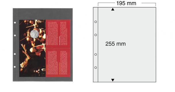 5 x SAFE 7396 PREMIUM Münzblätter Folder Banknotenhüllen 1C ca. 250 x 195 mm Ideal fär Euro Blister Folder Banknoten