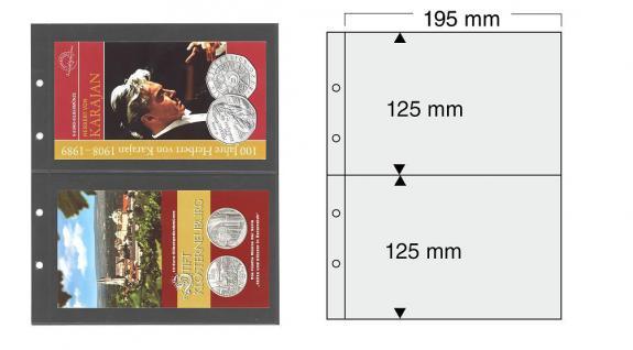 5 x SAFE 7397 PREMIUM Münzblätter Folder Banknotenhüllen 2C ca. 125 x 195 mm Ideal fär Euro Blister Folder Banknoten