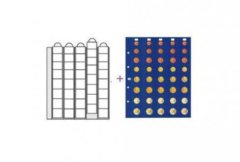 2 x SAFE 7395S Premium Münzhüllen Ergänzungsblätter für 5 Euro Kursmünzensätze 1 Cent - 2 Euro Münzen + farbigen Vordruckblättern