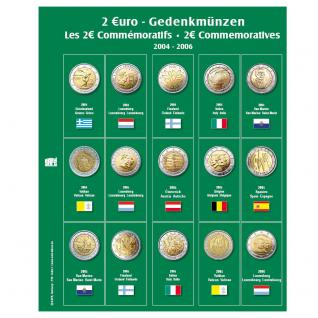 SAFE 7341-1 Premium Münzblätter Ergänzungsblätter Münzhüllen 7393 mit Vordruckblättern 2 Euro Münzen Gedenkmünzen 2004 - 2006 - Vorschau 1