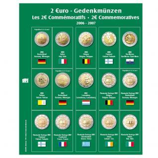 SAFE 7341-2 Premium Münzblätter Ergänzungsblätter Münzhüllen 7393 mit Vordruckblättern 2 Euro Münzen Gedenkmünzen 2006 - 2007