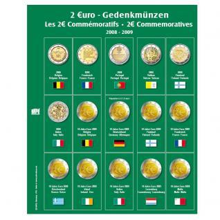 SAFE 7341-4 Premium Münzblätter Ergänzungsblätter Münzhüllen 7393 mit Vordruckblättern 2 Euro Münzen Gedenkmünzen 2009 - 2009