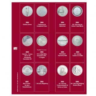 SAFE 7342-2 Premium Münzblätter Ergänzungsblätter Münzhüllen 7392 mit Vordruckblättern Deutsche 10 Euro Gedenkmünzen 2004 - 2006