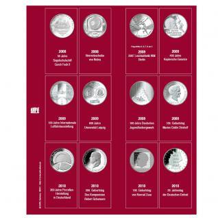 SAFE 7342-4 Premium Münzblätter Ergänzungsblätter Münzhüllen 7392 mit Vordruckblättern Deutsche 10 Euro Gedenkmünzen 2008 - 2010 - Vorschau 1
