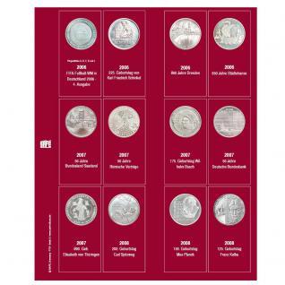SAFE 7342-3 Premium Münzblätter Ergänzungsblätter Münzhüllen 7392 mit Vordruckblättern Deutsche 10 Euro Gedenkmünzen 2006 - 2008
