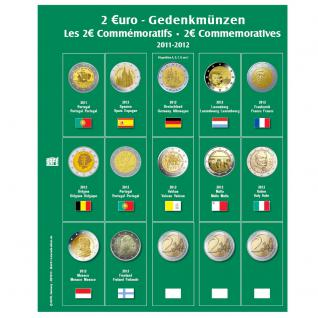 SAFE 7341-9 Premium Münzblätter Ergänzungsblätter Münzhüllen 7393 mit Vordruckblättern 2 Euro Münzen Gedenkmünzen 2012