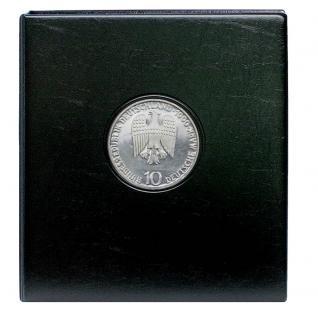 SAFE 7414 PREMIUM MÜNZALBUM Deutschland 10 DM Mark Gedenkmünzen farbiges Vordruckalbum + 4x Münzhüllen 7292 + 4x Vordruckblätter 1987 - 2001