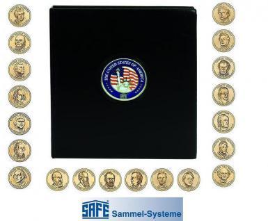 SAFE 7349 PREMIUM MÜNZALBUM USA Presidential Dollars Gedenkmünzen Vordruckalbum 1789 - 2014 + 4 Münzhüllen 7292 Vordruckblätter