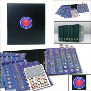 SAFE 7348 PREMIUM MÜNZALBUM FRANKREICH FRANCE EURO für 30 x komplette Kursmünzensätze KMS 1 Cent - 2 Euro von Andorra bis Zypern