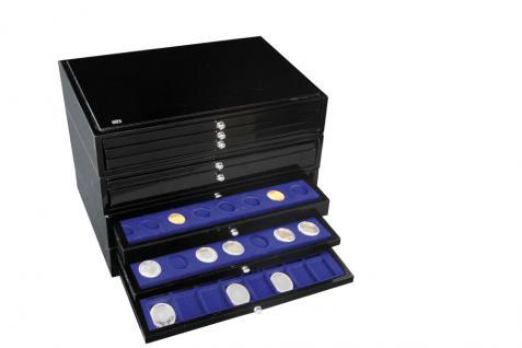 1 x SAFE 5861-1 Schwarze Schubladen mit blauen Einlagen 80 Münzen Euro KMS für die Kassetten 6590 & 6591 Ideal für 10 komplette Euro Kursmünzensätze von 1 Cent - 2 Euromünzen - Vorschau 3