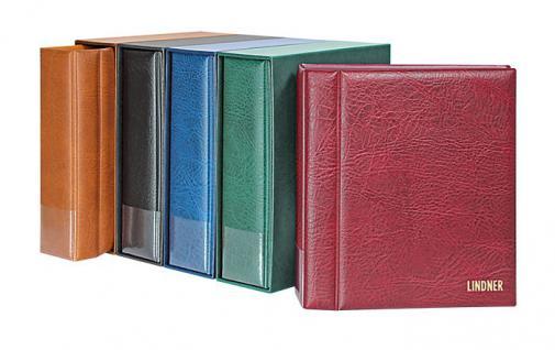 LINDNER 1302-W Set Weinrot - Rot MULTI COLLECT Ringbinder Regular Album + Kassette für Banknoten & Briefmarken & Münzen
