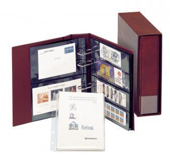LINDNER 1300 - B Blau MULTI COLLECT Ringbinder Regular Album für Banknoten & Briefe & Briefmarken & Münzen & Postkarten - Vorschau 2