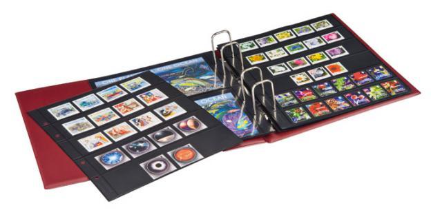 LINDNER 1400 - W Weinrot Rot Braun MULTI COLLECT Ringbinder RONDO REGULAR Album für Briefmarken Münzen Banknoten Postkarten FDC Briefe - Vorschau 5