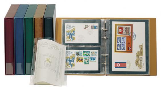 LINDNER 1400 - W Weinrot Rot Braun MULTI COLLECT Ringbinder RONDO REGULAR Album für Briefmarken Münzen Banknoten Postkarten FDC Briefe - Vorschau 4