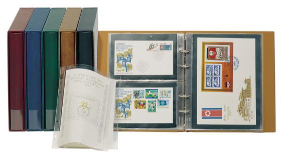 LINDNER 1401-H - Hellbraun Braune Schutzkassette Kassette Schuber für Multi Collect Rondo Regular Ringbinder 1400 - Vorschau 3