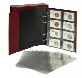 LINDNER 3532M - W Weinrot Rot MULTI COLLECT Münzalbum PUBLICA M + Kassette + 10 x MU Münzblätter Mixed + Zwischenblätter ZWL - Vorschau 2