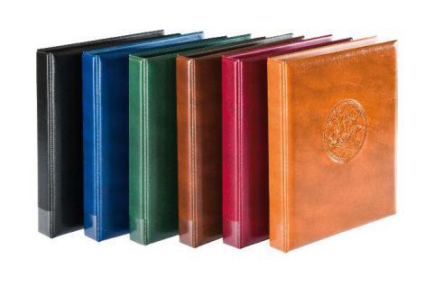 LINDNER 3107-D Dunkelbraun Braun Münzalbum Ringbinder HALF PENNY + 10 x MU Münzblätter Mixed + rote Zwischenblätter ZWL für über 300 Münzen - Vorschau 2