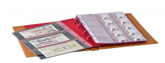 LINDNER 3109 - H Hellbraun Braunes Münzalbum Ringbinder Album HALF PENNY für Münzen & Bankmoten (leer) zum selbst befüllen bestücken - Vorschau 2
