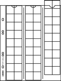 5 x LINDNER MU54R Multi Collect Münzblätter Münzhüllen 54 Taschen für Münzen bis 27 x 27 mm + roten ZWL - Vorschau 2