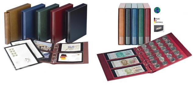10 LINDNER MU1353 Schwarze Multi Collect Einsteckblätter 8 Felder MIxed Telefonkarten & Markenheftchen - Vorschau 3