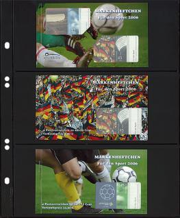 10 x LINDNER MU1313 Schwarze Multi Collect Einsteckblätter 3 Taschen 77 x 253 mm für Briefmarken - Bankoten Papiergeld - Vorschau 2