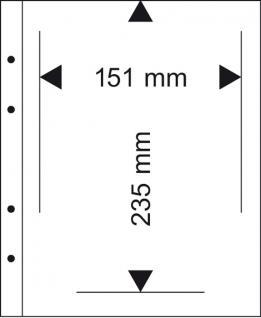 10 x LINDNER MU1340 Glasklare Multi Collect Einsteckblätter 1 Tasche 151 x 235 mm