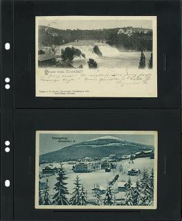 10 x LINDNER MU1331 Schwarze Multi Collect Einsteckblätter 2 Taschen 152 x 112 mm alte Postkarten Ansichtskarten