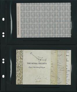 10 x LINDNER MU1332 Schwarze Multi Collect Einsteckblätter 2 Taschen 168 x 112 mm