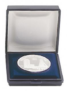 LINDNER 2006 Blaues Münzetui Münzen Etui klein für Münzen bis 41 mm