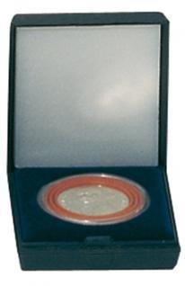LINDNER 2002 Blaues Münzetui Münzen Etui klein inklusive Münzkapsel 2230 / 2630