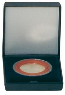 LINDNER 2003 Blaues Münzetui Münzen Etui gross inklusive Münzkapsel 2231 / 2631