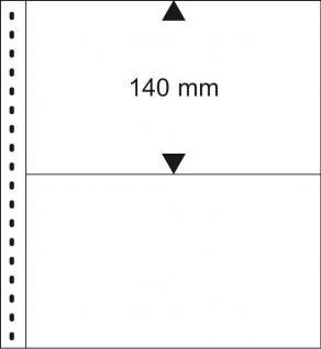 1 x LINDNER 850 Klarsichthüllen Banknotenhüllen 2 Taschen Streifen 240 x 140 mm mit schwarzen Zwischenblättern