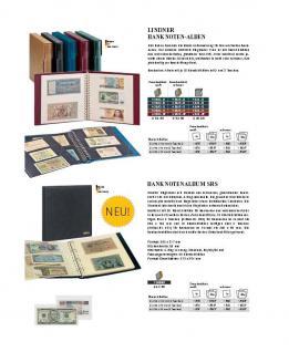 1 x LINDNER 851 Klarsichthüllen Banknotenhüllen 3 Taschen Streifen 240 x 90 mm mit schwarzen Zwischenblättern - Vorschau 3