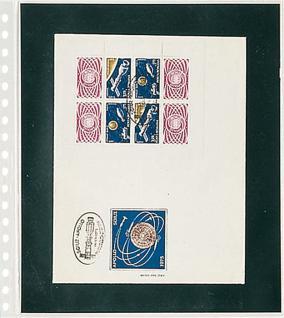 1 x LINDNER 820 Klarsichthüllen 1 Tasche Streifen 240 x 290 mm mit schwarzen Einlegeblättern für Ganzsachen