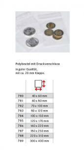 100 x LINDNER 783 Micro Snap Polybeutel Verschlußbeutel Druckbandbeutel 80 x 120 mm - Vorschau 1