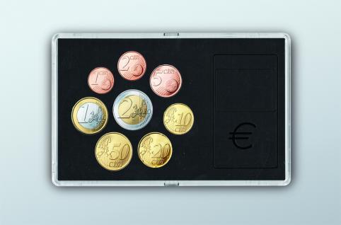 """SAFE 7903 Glasklare Stapelbare Acryl Münzetuis Münzenetuis Münz Etuis"""" Vista Libra """" für Euro Kursmünzensatz 1 Cent - 2 Euro"""