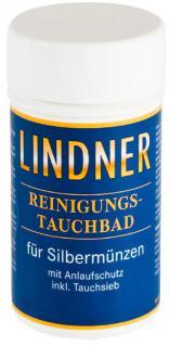 LINDNER 8092 SILBER Münzbad Tauchbad Reinigungsbad Pflegebad 375 ml Reinigung für Münzen & Schmuck